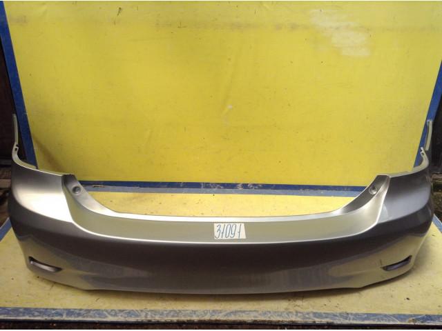 Toyota Corolla рестайлинг 150 бампер задний цвет серебристый 1F7 Ultra Silver