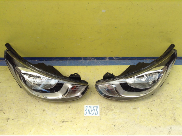 Hyundai Solaris Фара Левая и Правая галоген без электро-корректора