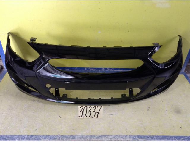 Hyundai Solaris Бампер передний цвет черный код краски MZH