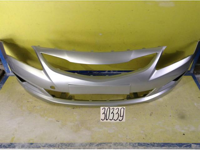 Hyundai Solaris Бампер передний цвет серебристый код краски RHM