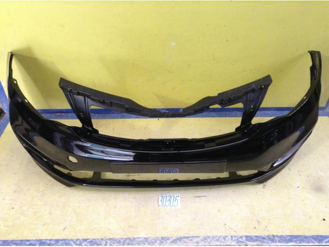 Kia Rio 3 рестайлинг Бампер передний цвет черный код краски MZH