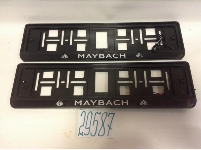 Рамки под номерной знак с подвеской Maybach с подсветкой