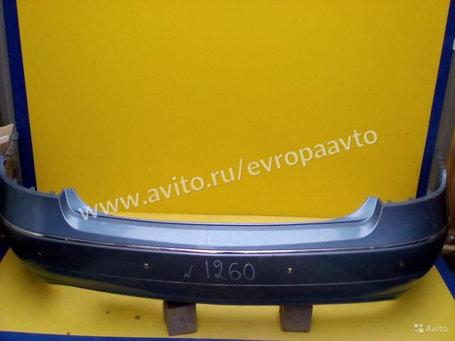 Mercedes E C207 Бампер обычный Задний с хромом